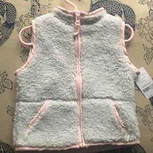 Plush toddler girls vest